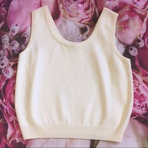 St. John Basic medium knit tank top
